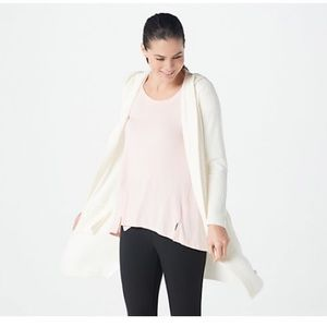 Barefoot Dreams Cozychic Hooded Cardi with Pockets